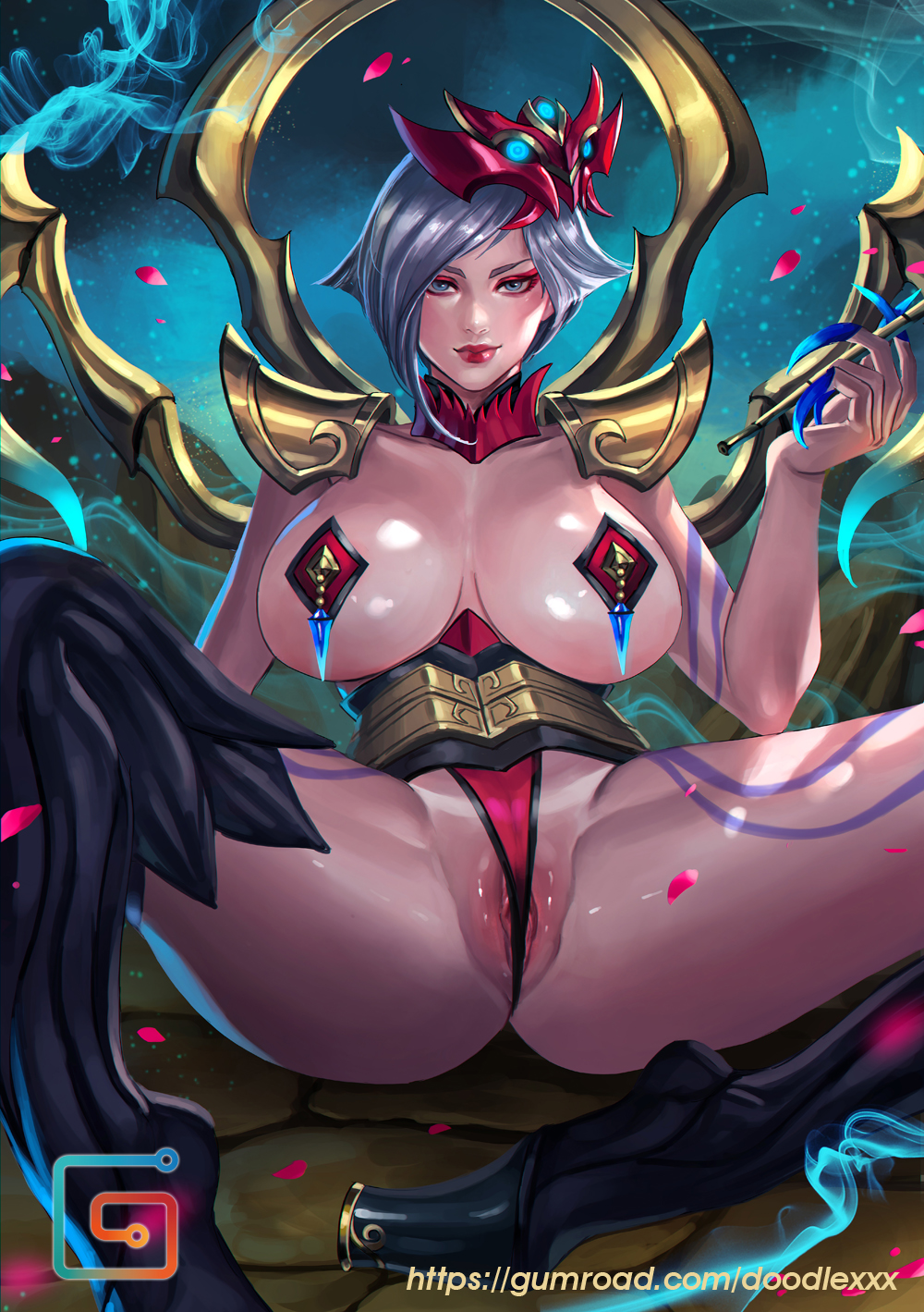 blood moon in game akali Rey from star wars naked